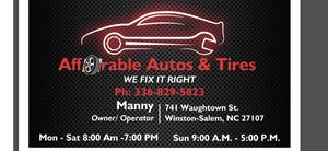 Affordable auto & tires inc. for Sale in Winston-Salem, NC