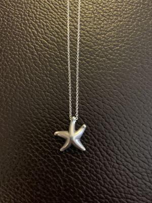 Tiffanys Elsa Peretti Sterling Silver Starfish Pendant and Chain .925 for Sale in Alexandria, VA