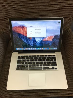 """(Upgraded 8GB memory & New Battery 1 Cycle count) Apple MacBook Pro 15"""" 2009 500gb Core2Duo El Capitan Nvdia Graphics for Sale in Lakewood, CA"""