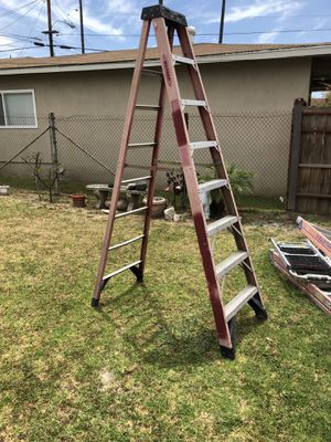 WHAT I HAVE FOR SALE IS A USED 8' Fiberglass LADDER. Used Fiberglass 8' ladder In great condition. Asking $65 bucks. for Sale in Gardena, CA