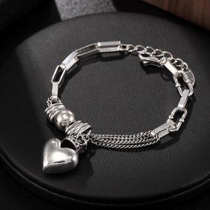925 Sterling Silver Bracelet Women's Love Punk Silver Women's Bracelet for Sale in Houston, TX