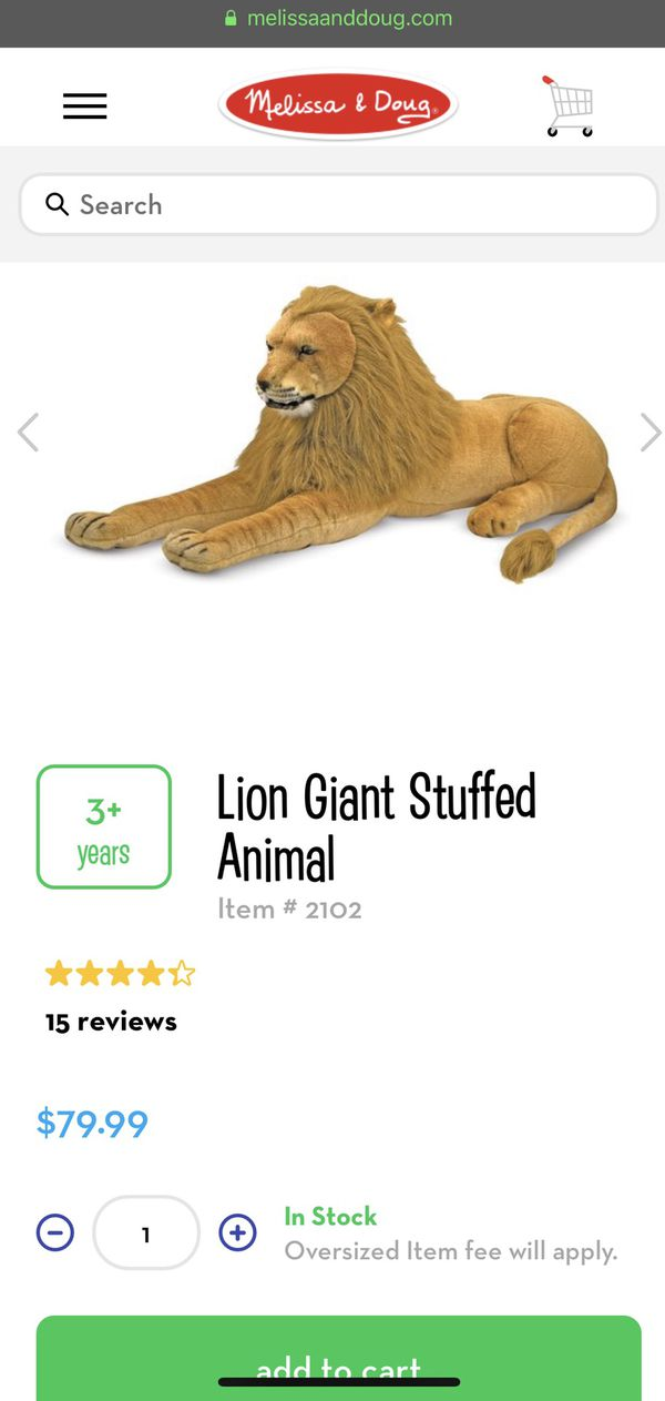 BRAND NEW * SEALED * NEVER OPENED: Melissa & Doug Nursery Giant Plush Lion