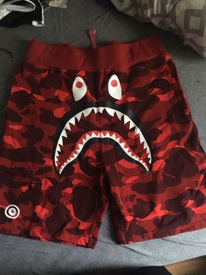 A Bathing Ape Camo Shorts Shark Print Bape Shorts for Sale in Baltimore, MD