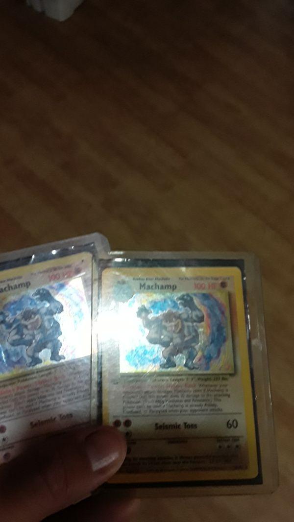 2 original MaChamps pokemon