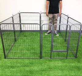 "$90 (new in box) heavy duty 8-panel dog playpen, each panel 32"" tall x 32"" wide pet exercise fence crate kennel gate for Sale in Whittier,  CA"