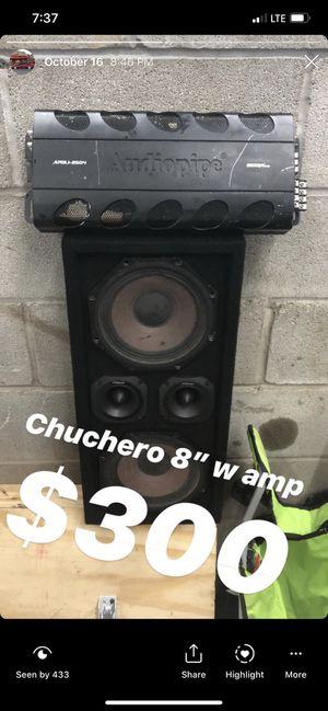 "B&c 8"" chuchero w audiopipe 2000 watt amp for Sale in The Bronx, NY"