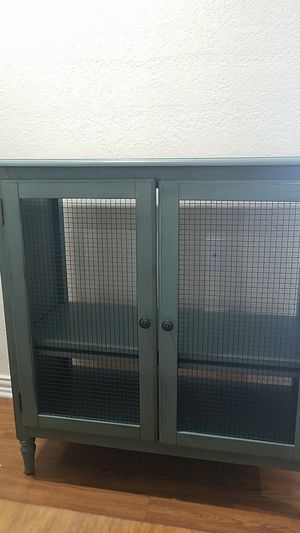 Teal county style home cabinet for Sale in Dallas, TX