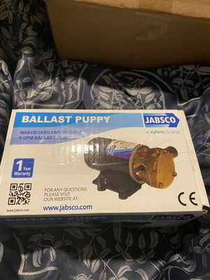 ballast puppy Jabsco Pump for Sale in Williamsburg, VA