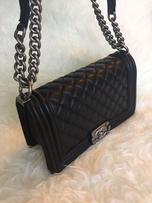 Chanel Boy Lamb Leather Crossbody Bag Purse Handbag for Sale in Naperville, IL