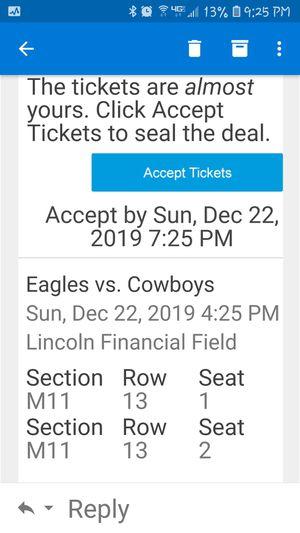 Eagles vs Cowboys for Sale in Virginia Beach, VA