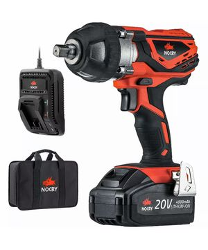 NoCry 20V Cordless Impact Wrench Kit - 300 ft-lb (400 N.m) Torque, 1/2 inch Detent Anvil, 2700 Max IPM, 2200 Max RPM, Belt Clip; 4.0 Ah Battery, Fast for Sale in Corona, CA