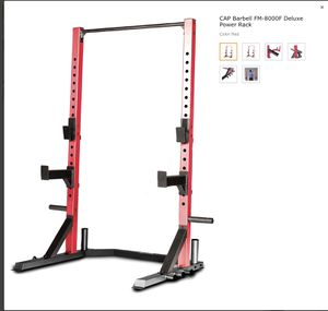 Cap deluxe squat rack with weight rack 600 lbs capacity for Sale in Los Angeles, CA