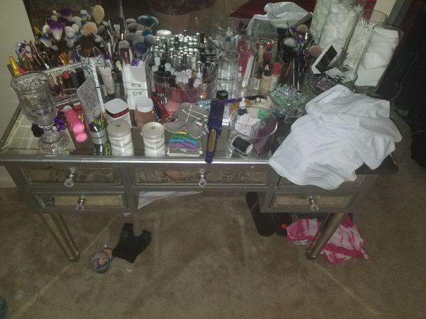 Make up vanity with mirror