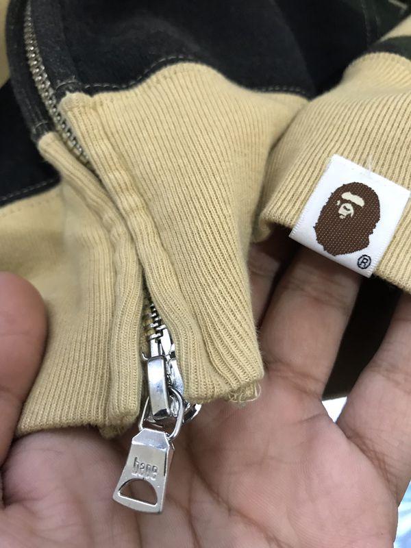 Yellow camo Bape hoodie