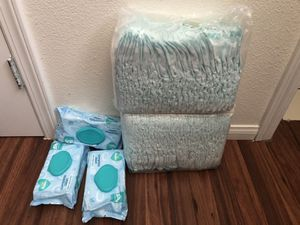 Pampers diapers and wipes , one bag is open , 65diapers in all ,size 5 in total , everything for $20 for Sale in Escondido, CA