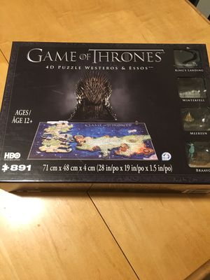 Game of Thrones 4D puzzle for Sale in Portland, OR
