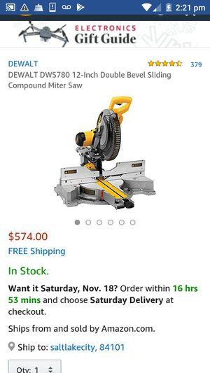 """Dewalt 12"""" compound SLIDING miter saw for Sale in Salt Lake City, UT"""