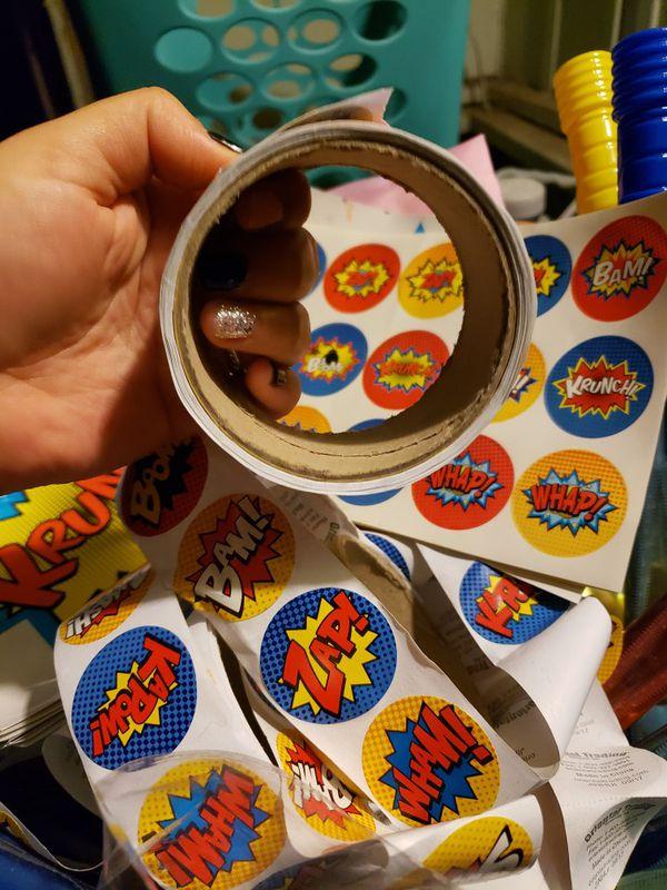 Stickers for superhero theme