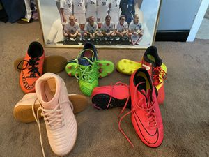Youth kleets, indoor shoes and turfs for Sale in Orlando, FL
