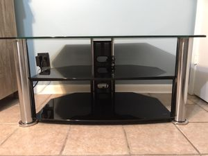 Black/silver TV stand for Sale in Corpus Christi, TX