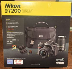 Nikon Black D7200 DX Digital SLR Camera with 24.2 Megapixels for Sale in Fremont, CA
