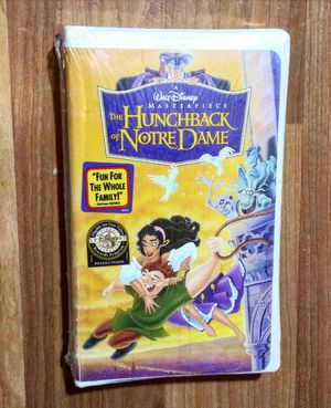 Brand New Sealed Disney's The Hunchback of Notre Dame (VHS, 1997) Clamshell for Sale in Douglasville, GA
