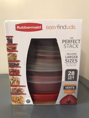 Brand new Rubbermaid 28 piece plastic food storage container set for Sale in Concord, CA