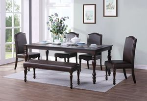 🌲Homelegance Hargreave Cherry Extendable Dining Set for Sale in Berwyn Heights, MD