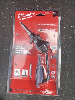 Milwaukee M12 12-Volt Lithium-Ion Cordless Soldering Iron (Tool-Only) for Sale in Stanton, CA