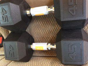 New 45lb Dumbbell Set for Sale in Douglasville, GA