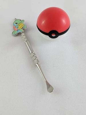 Squirtle Pokemon dab metal stick tool & silicone pokeball storage container for Sale in Woodland Hills, CA