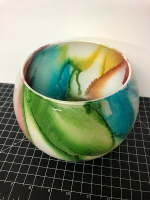 """Vintage California Glass Bowl Rainbow Colors 6"""" for Sale in Los Angeles, CA"""