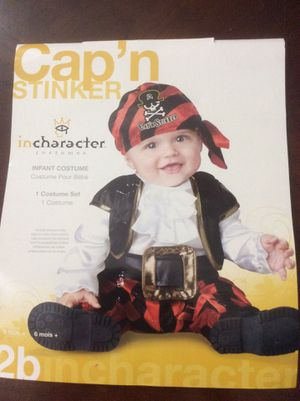 """Infant/Baby Halloween costume pirate """"Cap'n Stinker"""" size 6 month+ for Sale in Aberdeen, WA"""