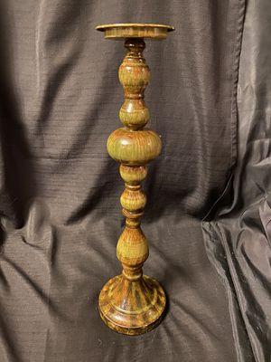 Tall wood/metal pillar candle holder. for Sale in Auburn, WA