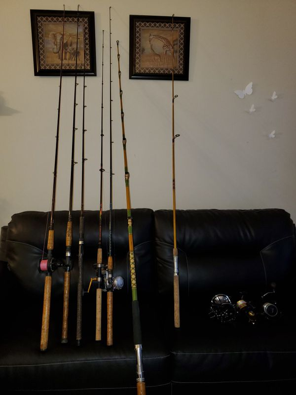 Saltwater fishing rods and reels, Shimano, Fenwick, Custom rod, Penn rods and reels.
