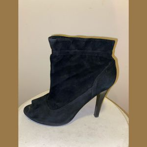 Audrey Brooke black suede ankle boot women's 6.5 booties for Sale in Philadelphia, PA