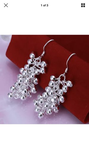 Sterling silver plated beads balls charm earrings jewelry accessory fashion for Sale in Colesville, MD