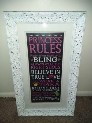 White framed princess photograph for Sale in Salt Lake City, UT