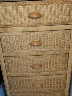 Wicker Dresser 5 Drawers Free for Sale in Portland,  OR