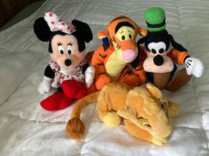 Four Disney stuffed animals for Sale in Auburndale, FL