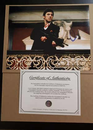 Al Pacino Scarface 8x10 Signed/Autograph COA for Sale in Vancouver, WA
