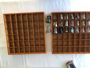 Shot glass display holders plus 23 shot glasses both for $20 for Sale in Anaheim, CA