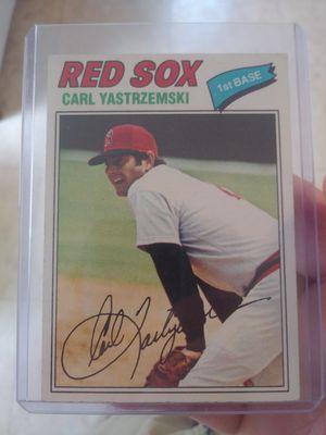 1977 Carl Yastremski Red Sox Baseball card for Sale in Wakefield, MA