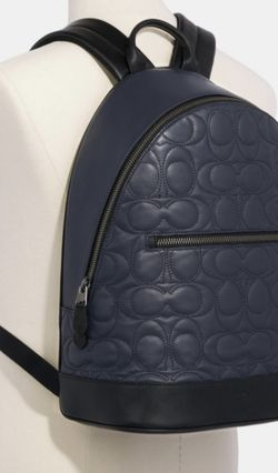 Navy Stitched Coach Backpack for Sale in Frankfort,  IL