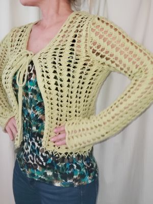 Crocheted sweater with coin fringe. for Sale in Cypress, TX