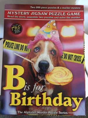 """B is for Birthday"" Mystery Jigsaw Puzzle Game for Sale in Milpitas, CA"