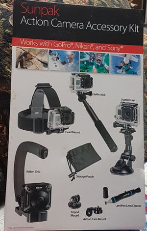 Sunpak action Camera accessory kit for Sale in Silver Spring, MD