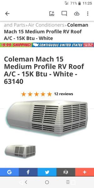 Coleman mach 15 medium profile rv roof ac for Sale in Beech Grove, IN
