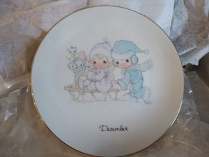 """Precious Moments December 1983 6"""" Porcelain Plate for Sale in Maywood, IL"""