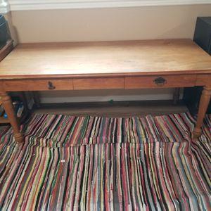 Handmade teak desk table for Sale in Fircrest, WA